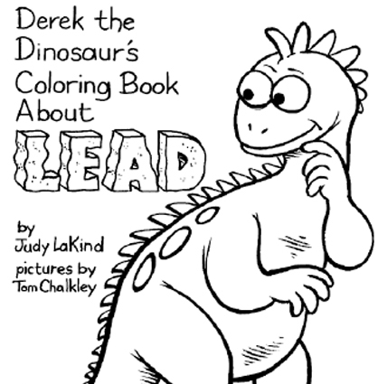 Derek the Dinosaur Coloring Book about Lead - Green and Healthy ...