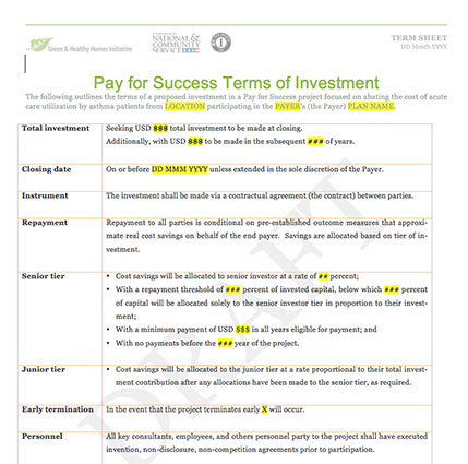 ghhi pfs term sheet template green and healthy homes initiative